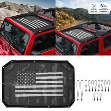 Eclipse UV Sun Shade Bikini Top Mesh Cover For 2007-2018 Jeep Wrangler JK JKU #B