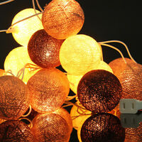 20LED Cotton Ball Fairy String Light Holiday Wedding Party Patio Christmas Decor
