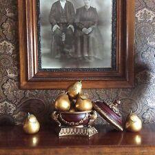 Antiqued Gold Ceramic Pear Fruit $45 Each