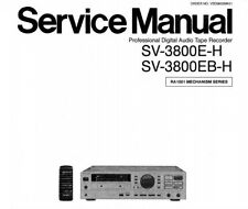 NATIONAL SV-3800E-H SV-3800EB-H PRO DIGI AUDIO TAPE RECORDER SERVICE MANUAL BOOK