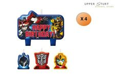 Transformers Optimus Prime Bumblebee Party Supplies Set of 4 Mini Cake Candles