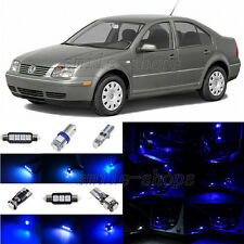 9pcs Ultra Blue LED Interior Light Package Fit For 1999-2004 VW Jetta Mk4