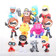 12 THE INCREDIBLES 2 FAMILY PACK ACTION FIGURES DOLL PLAY TOY CAKE TOPPER DECOR
