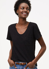 NEW NWT Ann Taylor Loft Vintage Soft Pocket Tee Size: M Color: Black