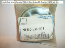 Honda Civic Accord Prelude 1980-83. Dust Seal A, FR. Bearing. 91250-SA0-013