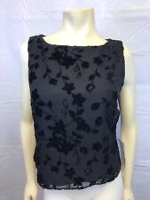 Real Comfort by Chadwick's Party Tank Top, Women's Size 12 Black Sleeveless NWT