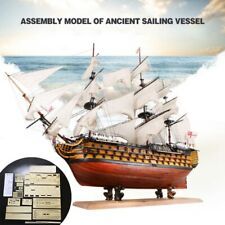 Victory DIY Wooden Sailing Boat Assembly Model Kits Ship Home Office Decor Toy