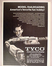 Tyco Model Railroad PRINT AD - 1969