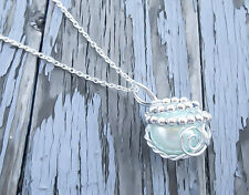 Final Fantasy Necklace FF7 Materia Necklace Materia Necklace FF7 Arctic Blue