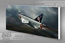 F.1 Lightning 74 Squadron 'Aggressive Defence' CANVAS PRINT, Digital Artwork.