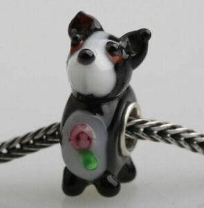 1PCS SILVER GLASS BEAD LAMPWORK Animal European Charm Bracelet dw0083