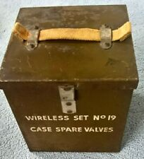 More details for  ws19 wireless set number 19 spare valve box with some valves.
