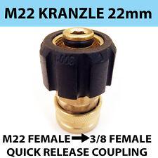 """Kranzle tipo M22 filettatura da donna 3/8"""" Accoppiamento Rapido Rilascio Donna"""