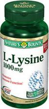 60 L-Lysine 1000mg Nature's Bounty Vitamin Supplement Nutritional Health Amino A