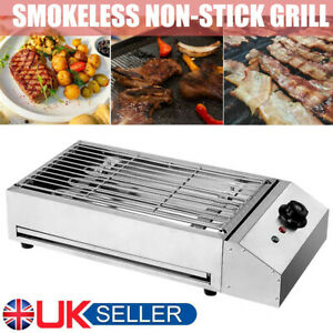 2800W Portable Smokeless Electric BBQ Grill Barbecue Countertop Indoor outdoor
