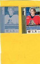 2001 PACIFIC TRADING CARD PRINTING PLATE OLEG KVASHA #180 (BACK OF CARD)