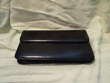 Vintage LEDERER PARIS Black Leather Handbag/Clutch
