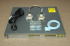 Cisco WS-C3750G-24TS-E1U 24-Port GigE Switch IOS 122-55.SE10 w/ CAB-STACK-50CM