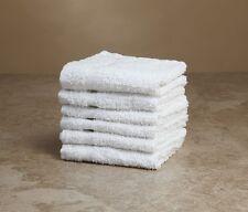 6 NEW WHITE CROWN BATH TOWEL 24X50 100% COTTON CAM BORDER HOTEL MOTEL SALON
