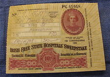Vintage Irish Free State Hospitals Sweepstake Ticket -1936-Pc41018