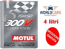 104244 MOTUL 300V COMPETITION 15W50 4 LITRI PER AUTO DI COMPETIZIONE