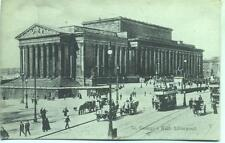 Tram St Georges Hall Liverpool unused 1900s postcard