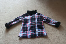 Penelope Mack Toddler Girls Jacket Coat Fleece Plaid Size 4T