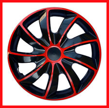"4 x13"" Wheel trims Wheel covers  universal fit for 13'' steel wheels black / red"