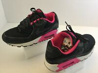 Kid's Nike Air Max 90 Athletic Shoes Girl's Size 4Y Black/Pink