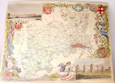 More details for middlesex antique hand-coloured county map by thomas moule c1840 s
