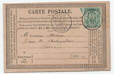 1876 PRECURSEUR AVEC 10 C SAGE N°65 TYPE I PARIS DEPART