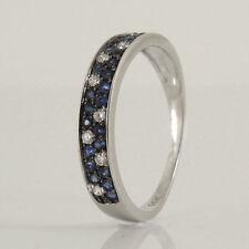 Unbehandelte Ringe mit Saphir echten Edelsteinen 16,8 mm Ø) (mit Rahmengröße 53