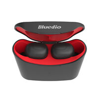 Bluedio T-elf Air pod Bluetooth 5.0 Sports Wireless Earphones Mic Earbuds Red
