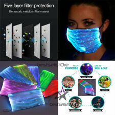 Fiber LED Color Glowing Face Mask USB Rechargeable with replaceable PM2.5 filter