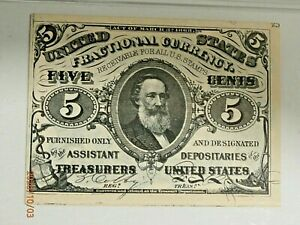 """5 CENT THIRD ISSUE GREEN BACK LETTER """"a"""" ON FRONT FR 1239 PMG 64 Ch CU"""