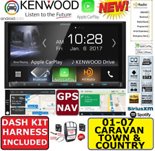 01-07 CARAVAN TOWN & COUNTRY GPS NAVIGATION SYSTEM APPLE CARPLAY ANDROID AUTO