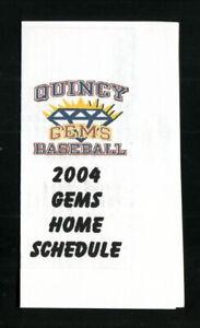Quincy Gems--2004 Pocket Schedule--Pepsi--CICL