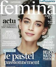 VERSION FEMINA N°729 21 MARS 2016 MAKE-UP PASTEL/ MUSSO/ DELICES MAISON POUR BEB