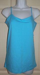 New Juniors size Medium 7-9 Blue Cami Top No Boundaries tank Cotton/Spandex