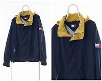 90s Vintage Mens TOMMY HILFIGER Shell Windbreaker Jacket Coat Navy Blue Size 2XL