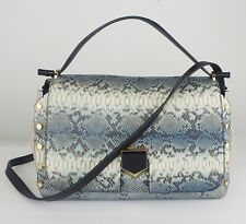 Jimmy Choo | Lockett S Denim Striped Degrade Python Handbag