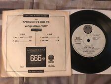 "APHRODITES CHILD ""666"" Special Radio Cuts! 7""33 Promo VERTIGO VELP-1 NM"