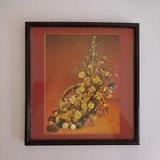 Peinture installation fruits légumes fleurs fait main art déco XXe PN France
