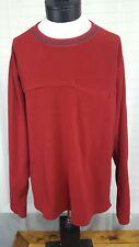 Mens XL REI Recreational Equipment Red Sweater Fleece Jacket Outdoor Hiking