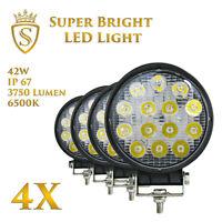4X 42W LED Arbeitsscheinwerfer Offroad Scheinwerfer 12V 24V für Jeep SUV Bagger