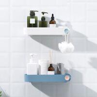 CW_ Chic Wall Mount No Drilling Holder Rack Bathroom Kitchen Storage Shelf Organ