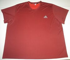 Mens Adidas Climalite Essentials Tech Short Sleeve Ss Tee Shirt Xxxl 3Xl Maroon