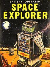Impresión arte cartel anuncio Juguete Con Pilas Space Explorer Robot nofl0796