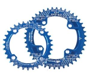 MTB Bike Single Narrow Wide Round Oval Chainring Chain Ring BCD104mm 30-42T Blue