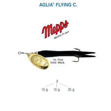 Cuiller MEPPS AGLIA FLYING C  25 g Or (Gold)  / Noir (Black)
